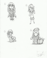 Chibi Practice Traditional by XSkyeStarlX