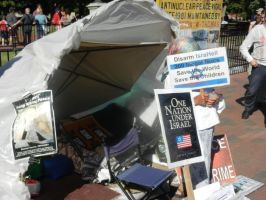 24 hour peace vigil tent by Flaherty56