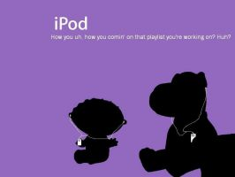 Stewie and Brian iPod ad by I-didnt-go