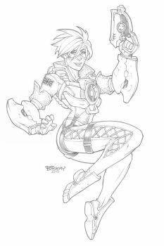 Tracer in Pencil by BillMcKay