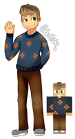 Commission - Minecraft Player - Cr8tive_Zone by CubedCake