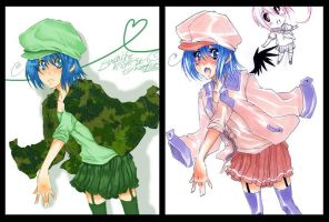 Digitial vs Traditional -LUCY by AsuHan