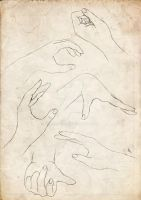 Hands-drawing practice p1 by acherry666