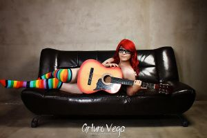 Red Haired Hipster Guitar Lover by Nao-Dignity