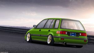 Honda Civic Wagon Euro Look by RDJDesign
