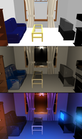 CG Interior WIP Images by Akhdanhyder