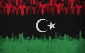 Libyan Flag by bisiobisio