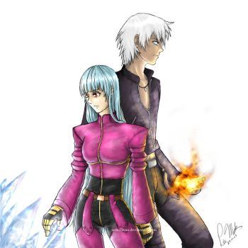 King of Fighters: Kula and K' by leamatte