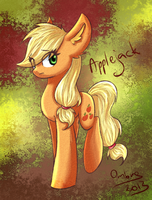 applejack by akiiri