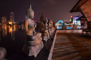 Temple and City Lights by shiranigaz