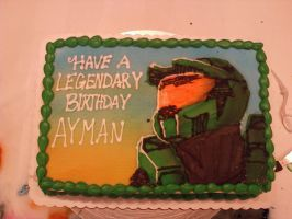 Halo Birthday Cake by KalePaksi