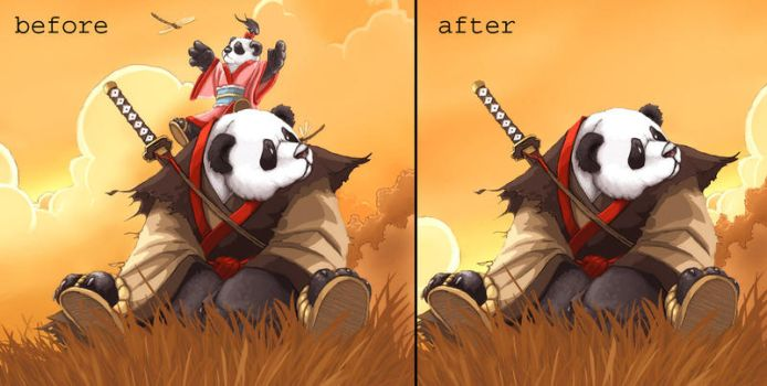 Pandaren Avatar before... by bigdaddyglen69