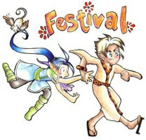 Rush to the Festival: SuikoRPG by Spambi