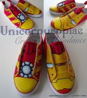 Iron Man Shoes by unicornucopiae