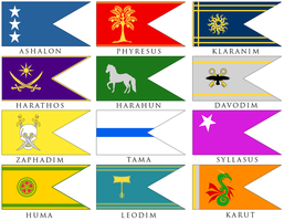 12 Tribes Flags by DWebArt