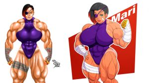 Mariana - A Char. by TheMuscleGirlFan and Devmgf by The-Muscle-Girl-Fan