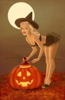 Norma Jeane Halloween by AtomicKirby