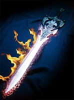 Flaming sword by Player-Designer