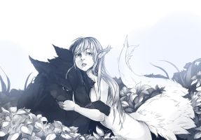Experiment lady and the  Wolf by Girutea