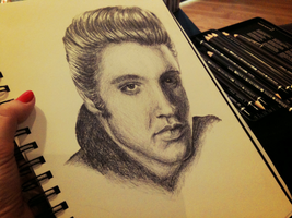 Elvis Presley by grandiosedelusions