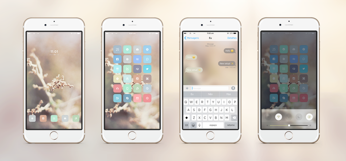 Golden Hour - iPhone setup by neopolitandoll