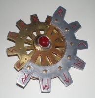 Steam Punk Cogwheel Brooch by Steam-HeART
