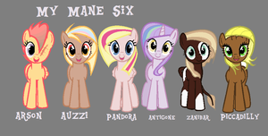 My Mane Six by anything-but-good