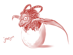 30 Day Monster Challenge - Day 26 - baby jraegun by sp00ntane0us