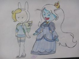 Fiona and Ice Queen by funnyhedgehog23