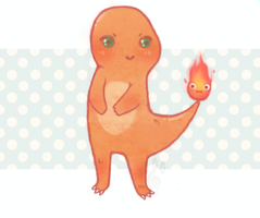 Charmander and Calcifer by likos