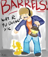 BARRELS! - Pewdiepie by City-of-Faith