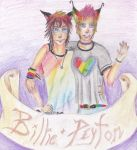 Peyton and Billie by Aairo