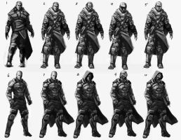 SciFi Character Roughs by Veneq