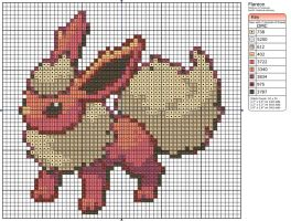 136 - Flareon by Makibird-Stitching