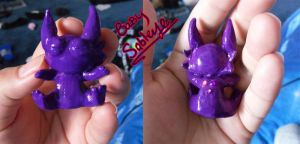 Baby Sableye sculpey by Fly-Free12