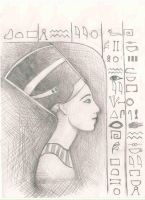 Queen Nefertiti by aidinera
