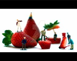 A day at the Strawberry Land by Fatima-AlKuwari