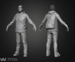 Adam, Male character, zbrush render by Azraele