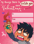 Veronica and Sergio Valentine's Day Cards by JitenshaSW