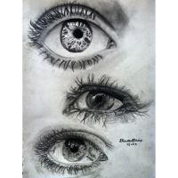 charcoal eye drawings by DevonDavis