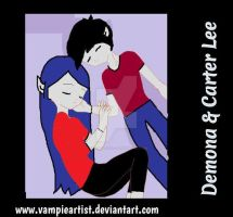 Demona and Carter Lee Sleeping by VampieArtist