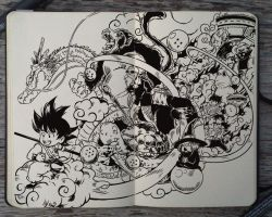 #209 Dragon Ball by 365-DaysOfDoodles