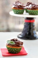 Mint chocolate cupcakes by kupenska