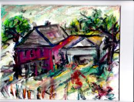 Pink House by LaurieLefebvre