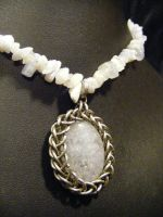 Blue lace agate Necklace by BacktoEarthCreations
