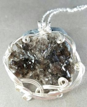 Crystal Cave ~ Irradiated Quartz Pendant  by sojourncuriosities