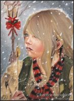 The Little Match Girl -  ACEO by Katerina-Art
