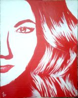 My painting of Emily Thorne from revenge by bellaswanartluver