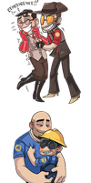 TF2 chibi couples by Owlys