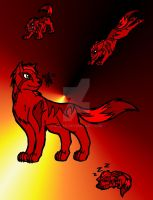 Red Wolf Rapture by 6liza6